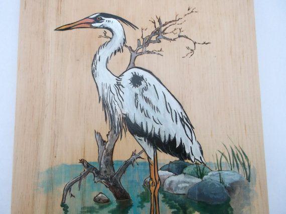 Great Blue Heron On Hardwood Wall Art Large Heron Wall Etsy Hardwood Wall Art Large Wall Art Art