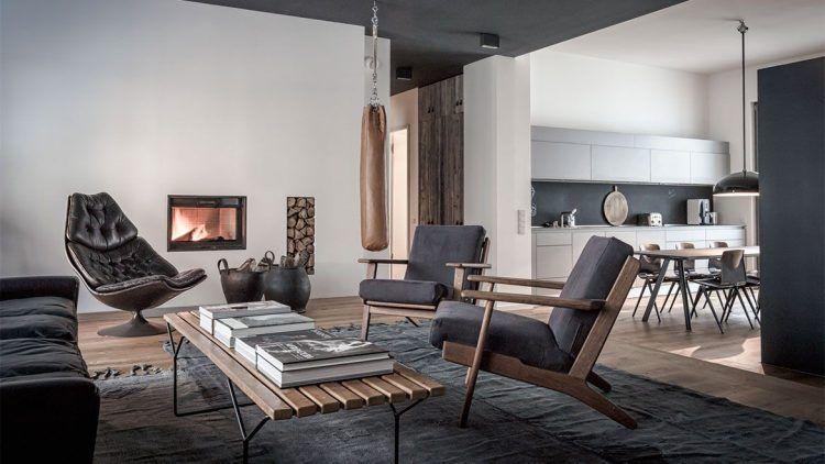 Appartement moderne masculin Living room inspiration, Room