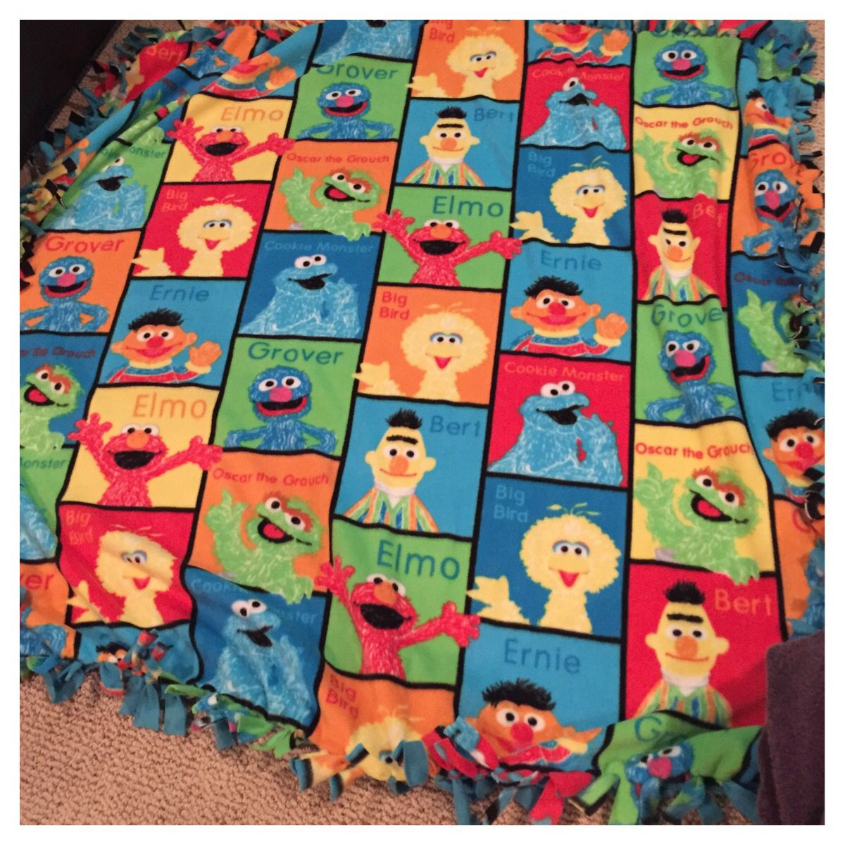 Fleece Blanket Sesame Street #fleece # Sesame Street #blanket