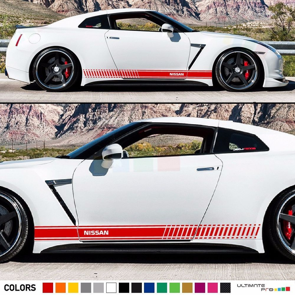 Sticker Decal Stripe Kit For Nissan GTR R35 Xenon Light Mirror Side Skirt  Wing #ultimateprocy1