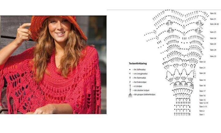 Poncho Verano Crochet | Crochet II | Pinterest | Ponchos and Crochet