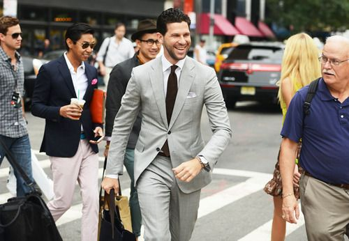 via Tumblr NYFW.  Not sure who this guy is but his smile makes him even more handsome.