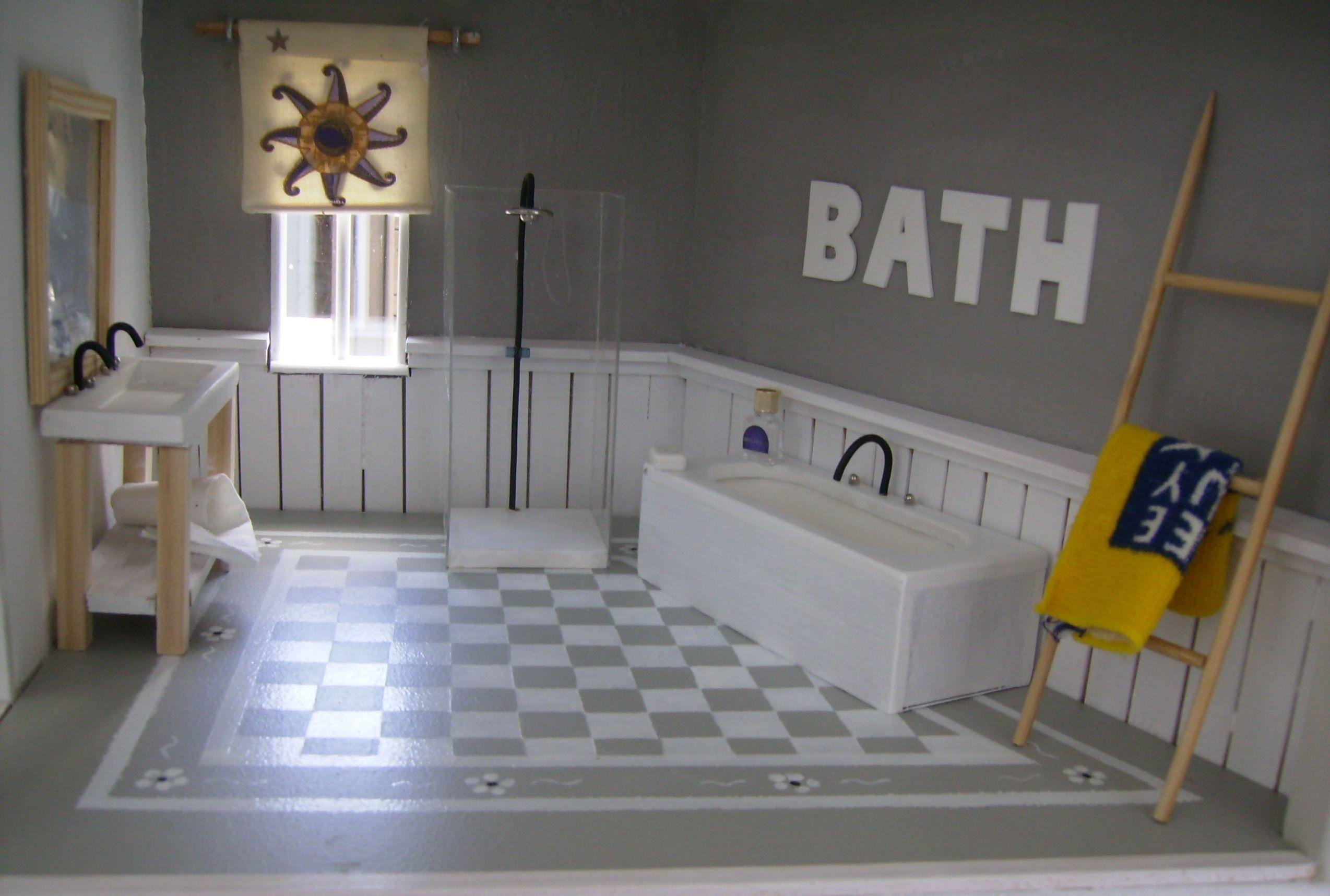 Badkamer Voor Poppenhuis : Poppenhuis badkamer poppen huis