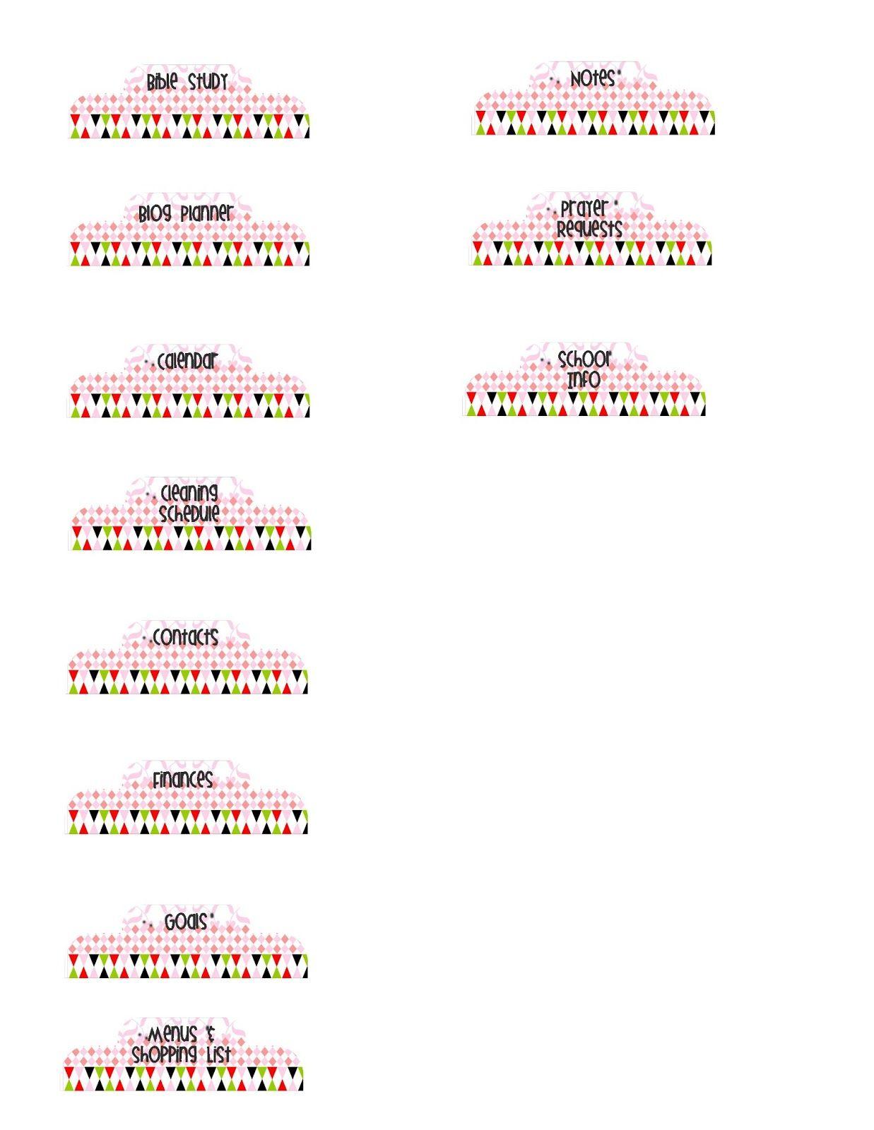 Weekly blog goals printable planner dividers pinterest