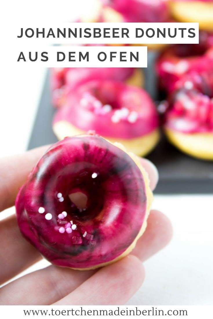 Johannisbeer Donuts aus dem Ofen || Törtchen - Made in Berlin