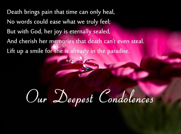 Condolence Messages | Mothers, Gifts and Agree with