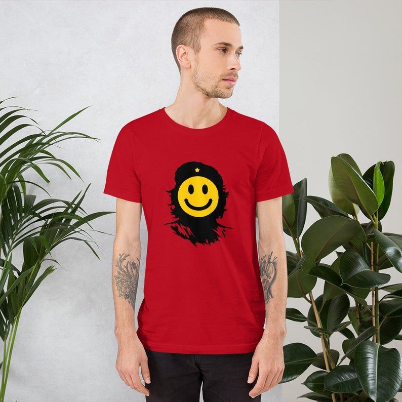 Mens / Womens Che Guevara does smile T Shirt, emoji, Tee, Shirt, Clothing, Fashion.