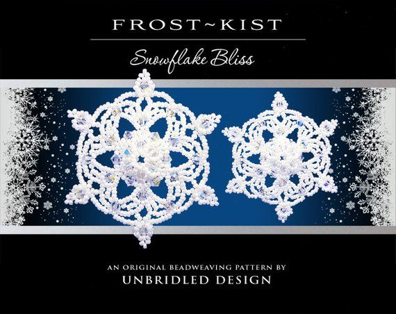 Frost~Kist Beaded Snowflake pdf tutorial in 2019 | Products