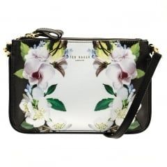 1d7103b38b Ted Baker Womens Black Lizel Forget Me Not Crosshatch Cross Body Bag ...