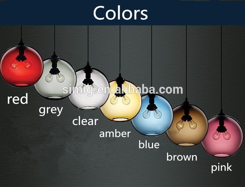 Photo of E27 holder colourful pendant lamp for bar and resturant decoration
