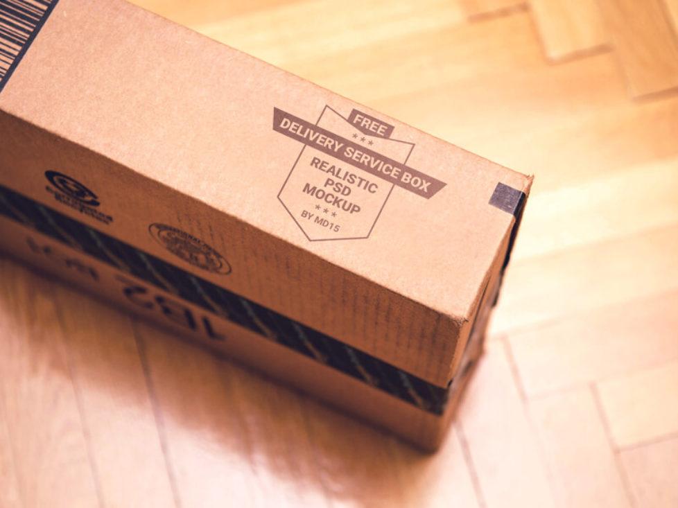 Download Delivery Service Box Mockup Psd Box Mockup Mockup Psd Mockup