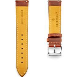 Vintage Braunes Leder Uhrenarmband & Silberfarbene Schließe #vintagerhinestone
