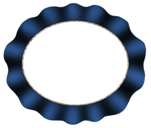 Beautiful Dark Blue Oval Frame