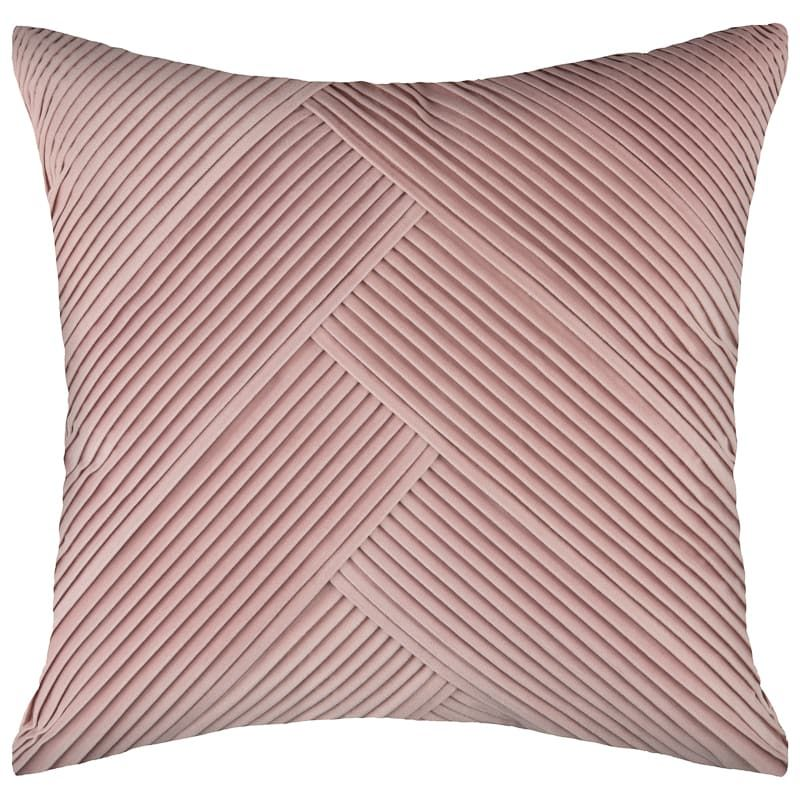 Blush Pleated Velvet Throw Pillow