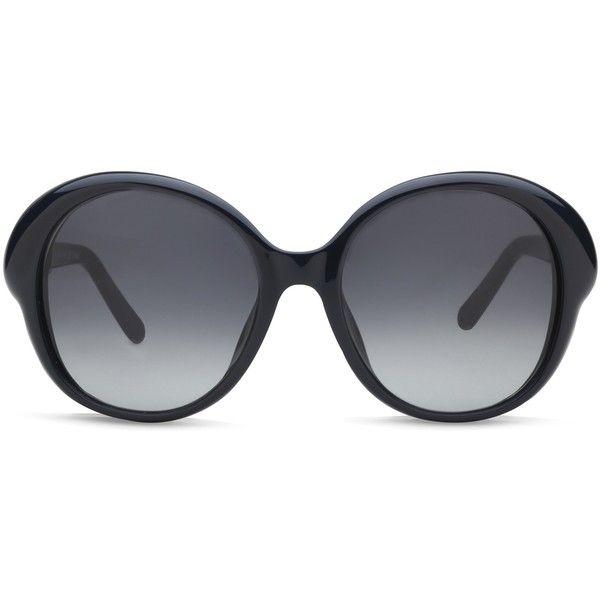 Chloe Chloe CE649S Dark Blue ($198) ❤ liked on Polyvore featuring accessories, eyewear, sunglasses, blue, dark blue sunglasses, blue glasses, chloe sunglasses, blue sunglasses and chloe glasses