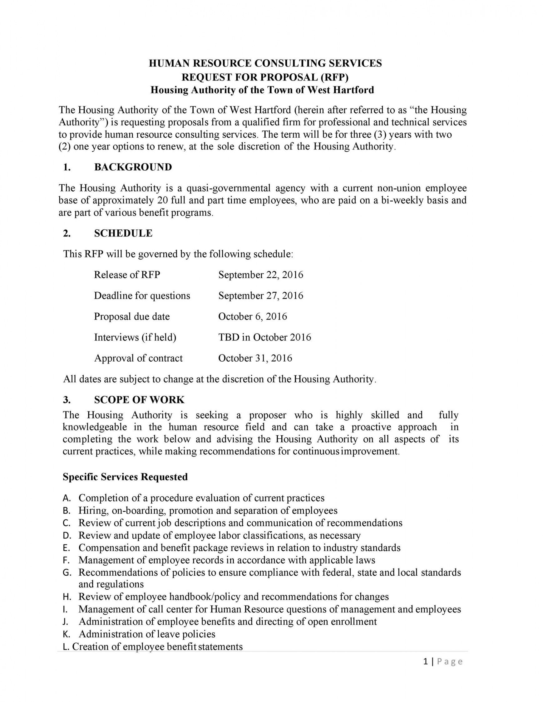 Human Resources Consulting Proposal Template Proposal Templates Proposal Human Resources