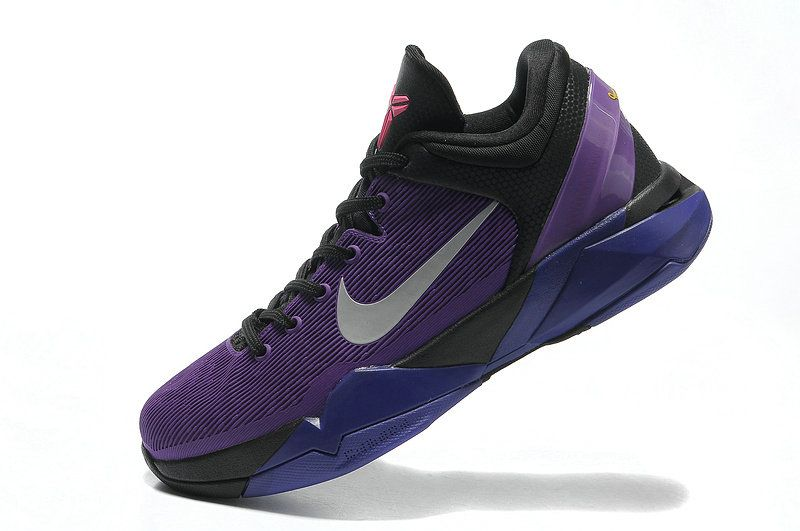9e761283ca4 Kobe 7 Invisibility Cloak Black Court Purple-Turquoise Blue 488371 ...