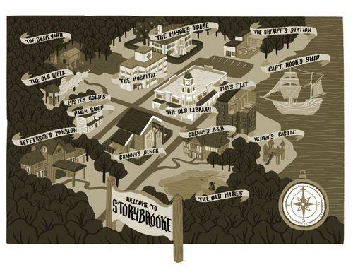 Storybrooke Maine Map Google Search Fantasy Maps