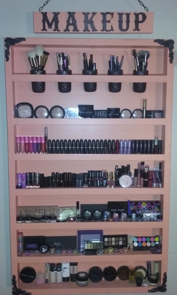 Hand Made Makeup Shelf By Jdvdesigns On Etsy Diy Makeup