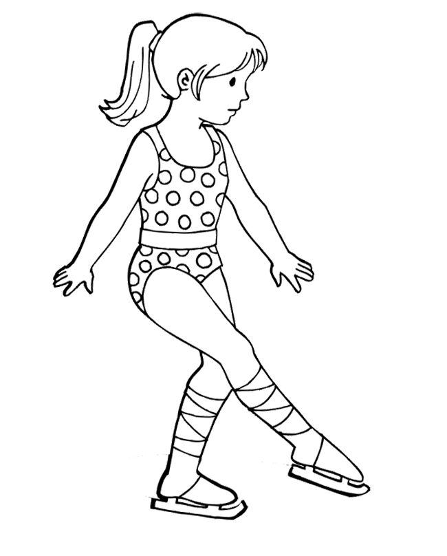 The Girl Figure Skater Coloring Page Kleurplaten En Spel
