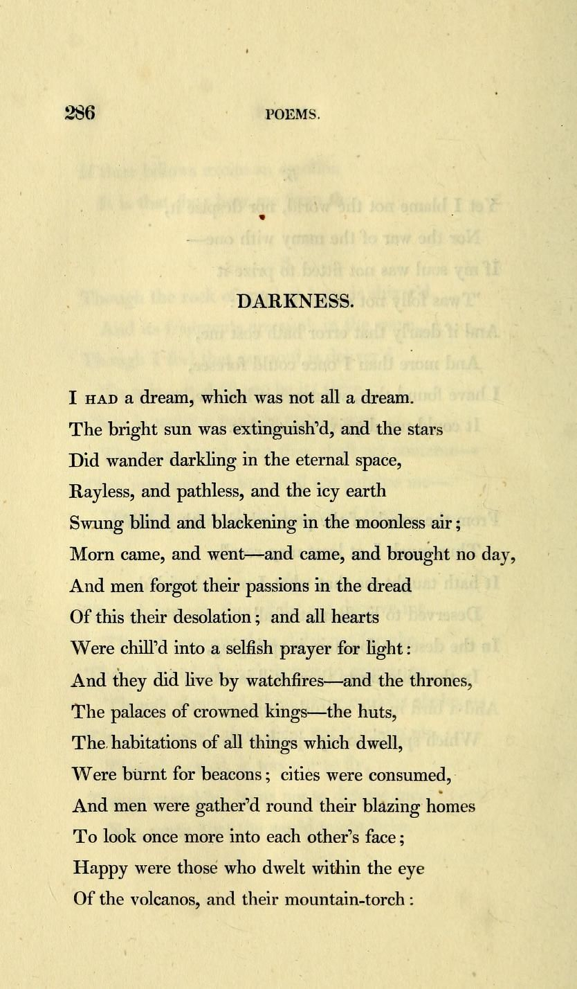 Hello byrons darkness ie new favorite poem to teach lord fandeluxe Choice Image