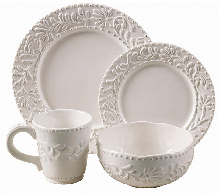 American Atelier Bianca Leaf Round 16 Pc Set With Images