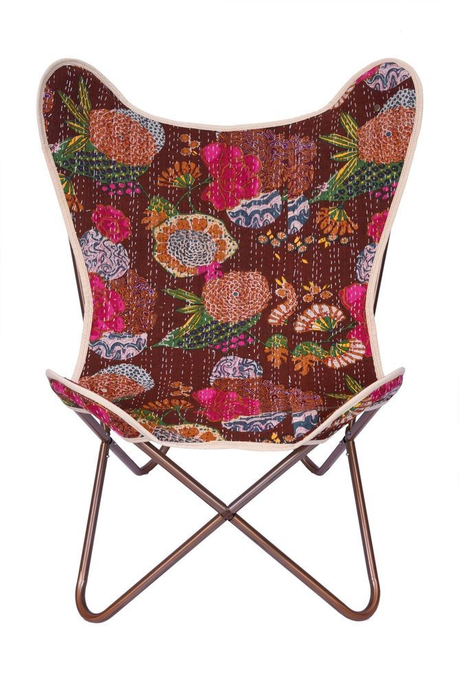 Classic Cover Kantha Canvas Butterfly Chair Cover Fruit Print Chair Cover