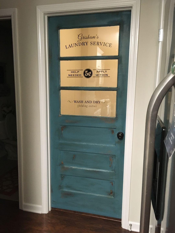 Laundry room door change to self serve