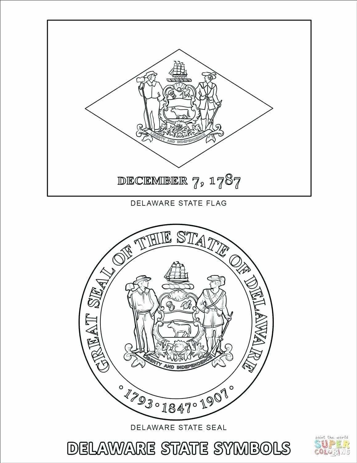 Pennsylvania State Bird Coloring Page New Tennessee Flag Coloring Page Oneupcolor Flag Coloring Pages Delaware State Flag Different Country Flags
