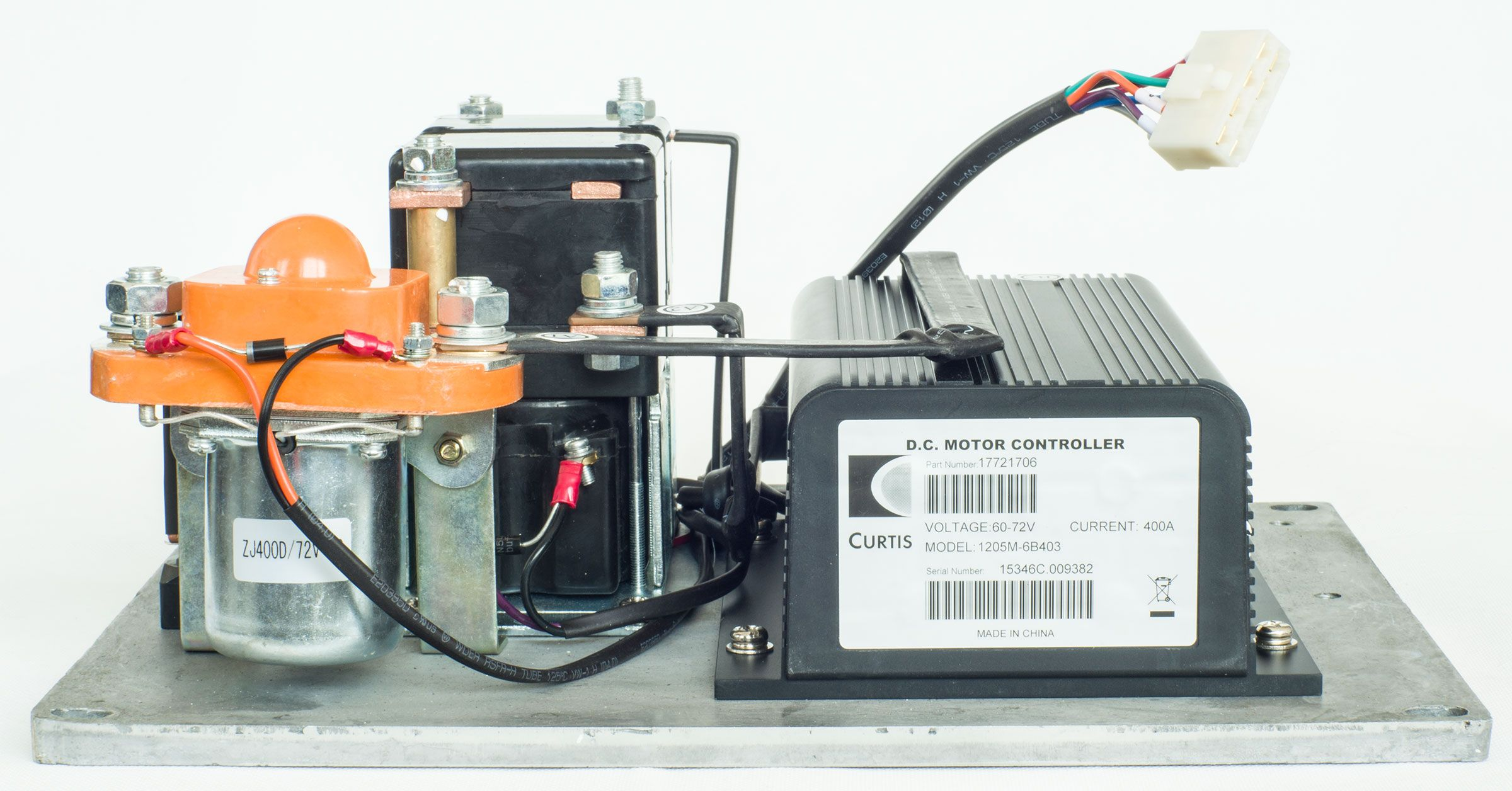 CURTIS DC Series Motor Speed  Controller Assemblage, Model 1205M-6B403 (Upgraded Version of 1205M-6401 / 1205M-6B401), 60V / 72V - 400A, with Foot Pedal (throttle) and Installation Kit