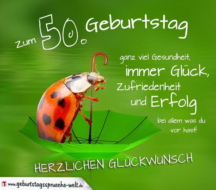 50 Geburtstag Karte Herzlichen Gluckwunsch Geburtstagsspruche