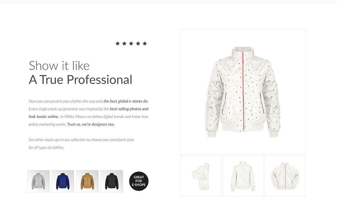 Download Bomber Jacket Ghost Mockups Set Free Selling Photos Modern Branding Logo Marketing Words