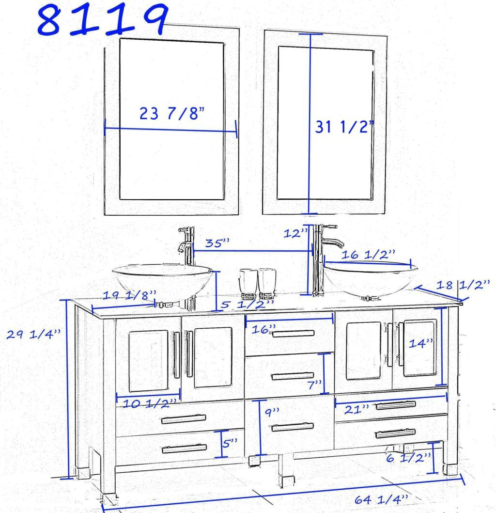 Ideas Standard Height For Bathroom Vanity With Vessel Sink