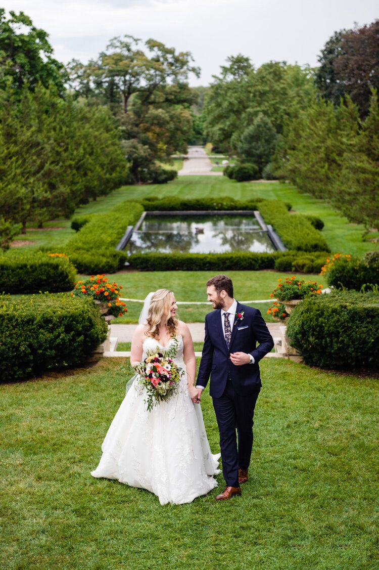 Cantigny park east lawn wedding in wheaton il