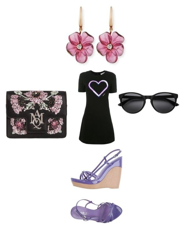 """""""Untitled #5193"""" by bellagioia ❤ liked on Polyvore featuring Carven, Alexander McQueen, Rina Limor and Sebastian Professional"""