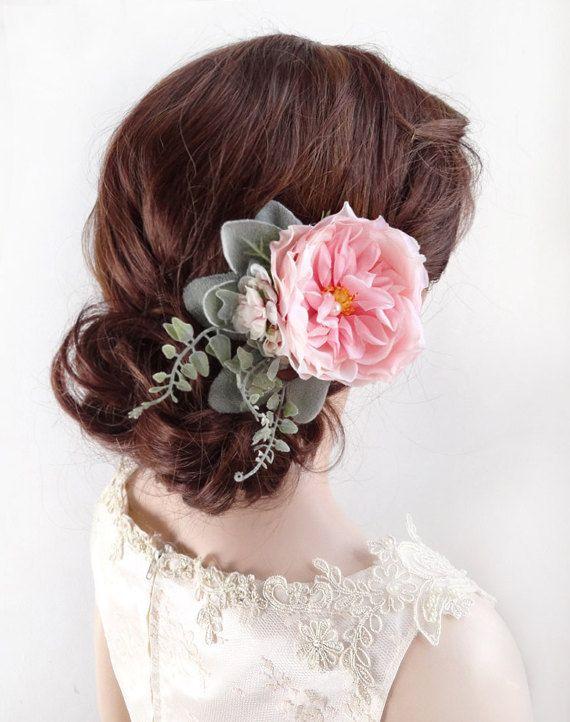 Pink wedding hair accessories pink flower hair clips pink hair pink wedding hair accessories pink flower hair clips pink hair accessories pink peony mightylinksfo