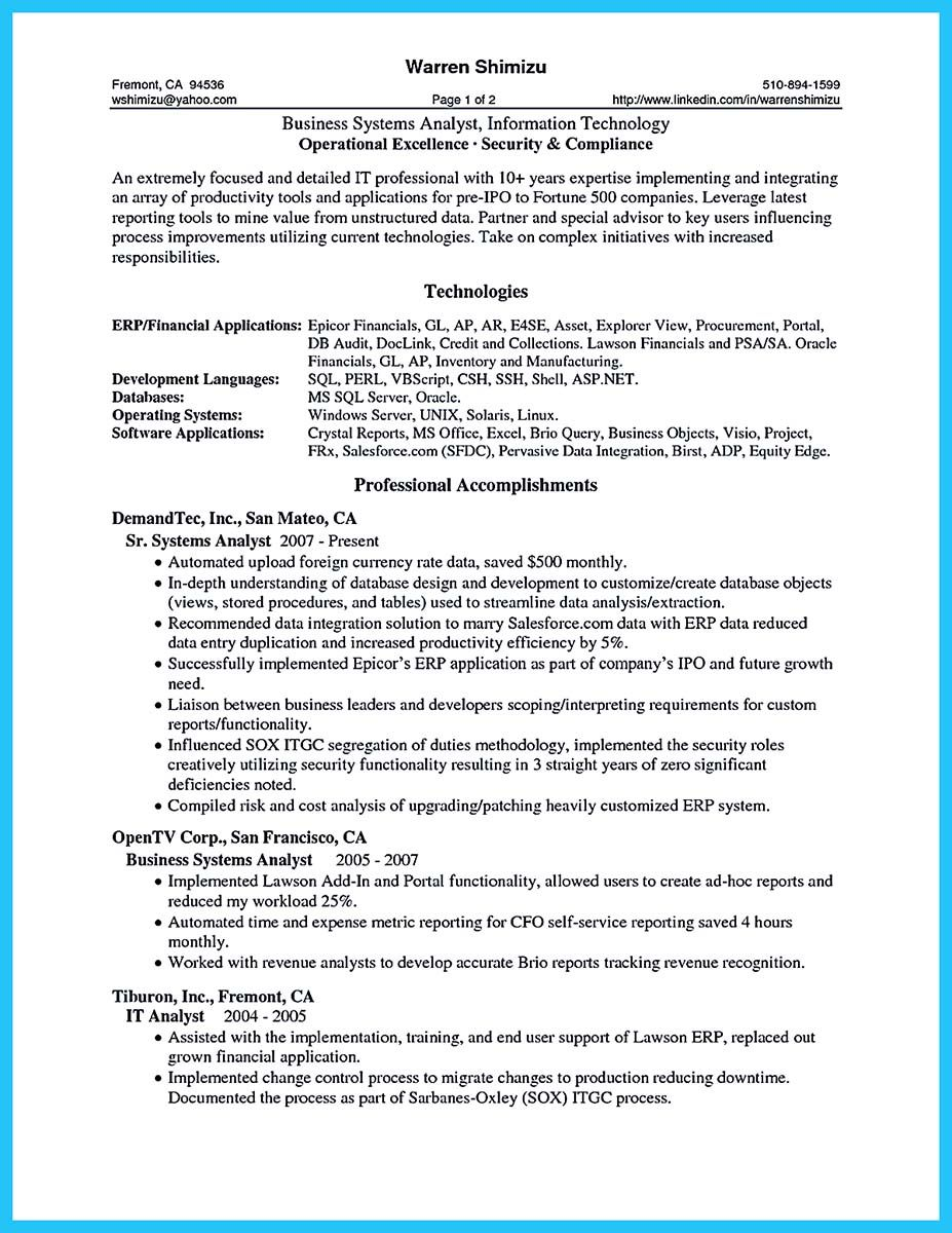 One Page Resume Examples. Resume Format For Experienced Sample ...
