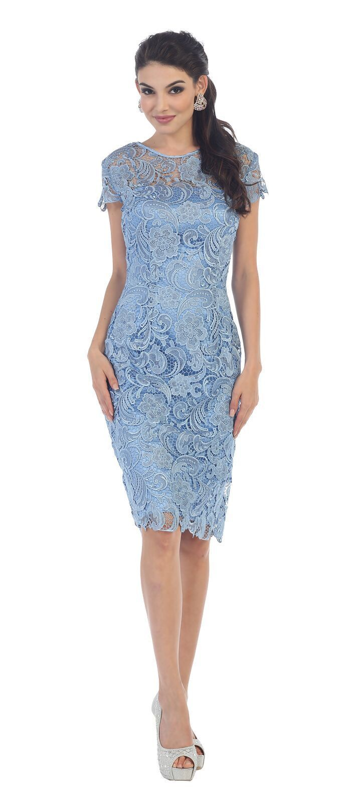 Short Lace Mother of Bride Dress 2018   Bride dresses, Shorts and ...