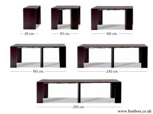 Console Dining Table space saving console · golia extendable console / table · bonbon