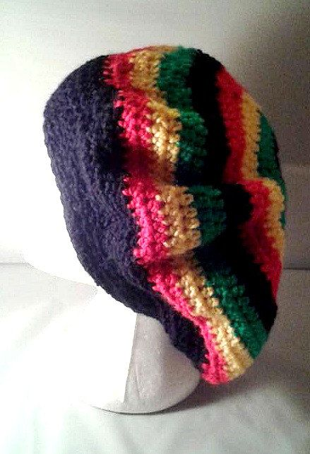 Jamaican Slouch Hat - Rastafarian black, red, yellow and green ...