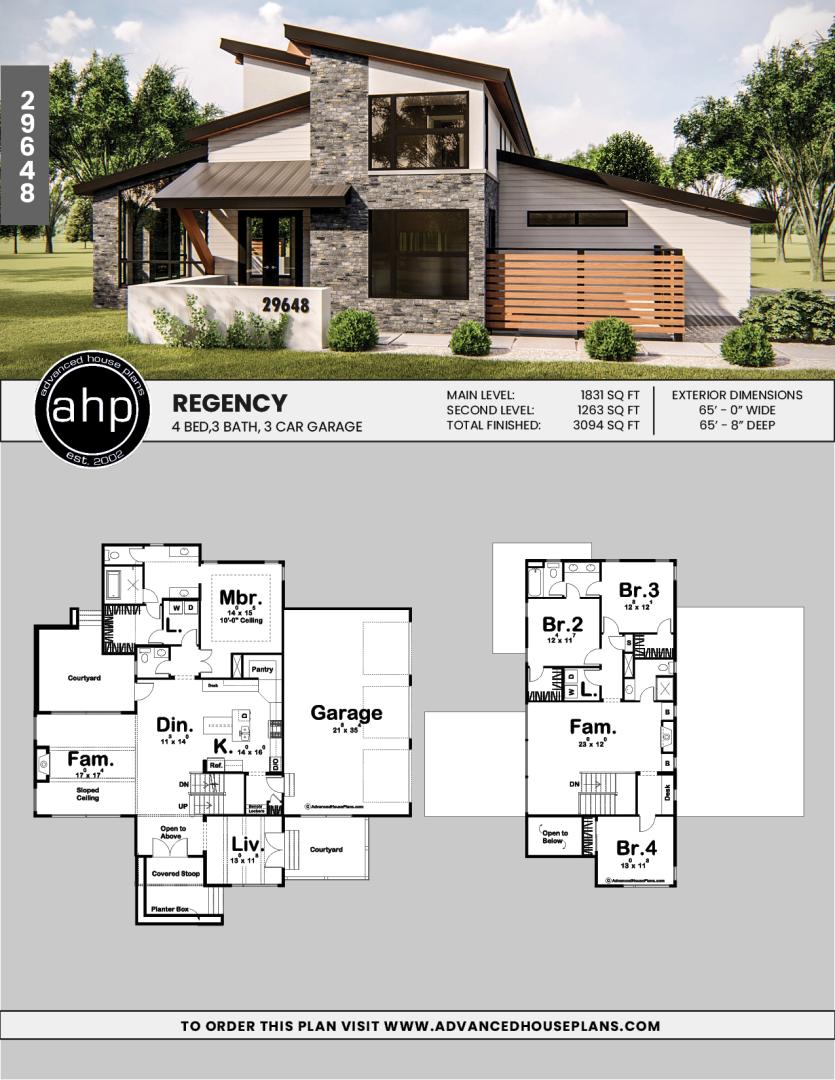 Regency 1 5 Story Modern House Plan Industrial House Plans