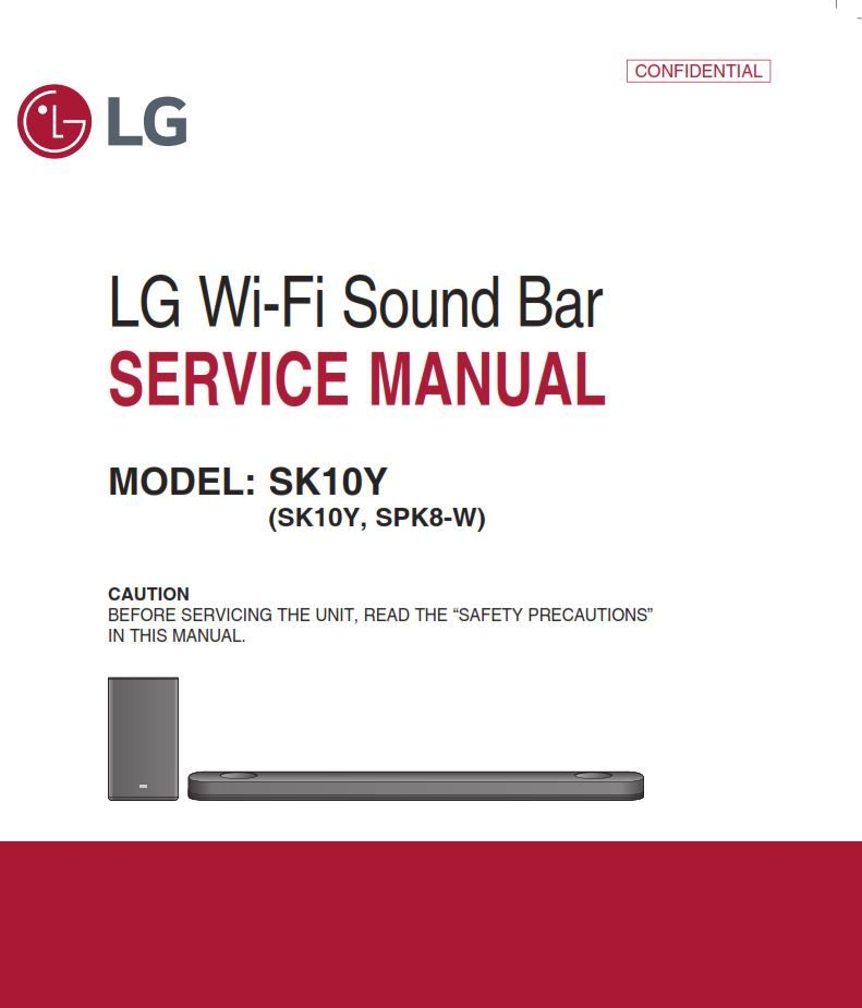 Troubleshooting Guide For All Boards: LG SK10Y Sound Bar System Service Manual And Repair Guide