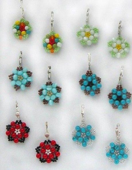 Diy Beautiful Bead Flower Earrings Fabdiy Beaded Earrings Patterns Earring Patterns Seed Bead Jewelry