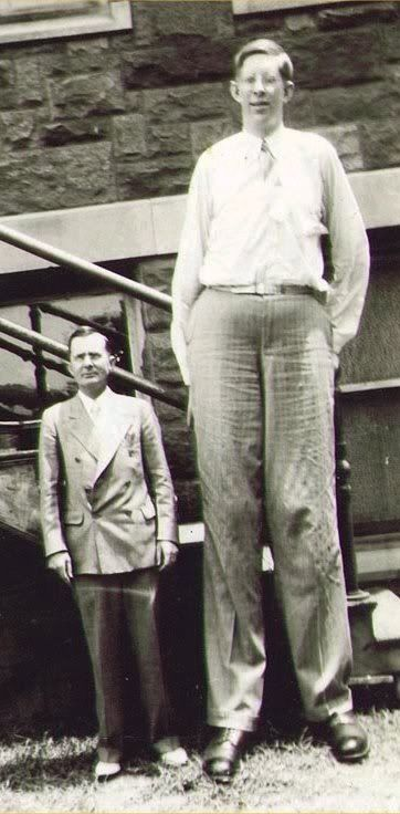 the tallest man ever on record was robert wadlow who grew to a