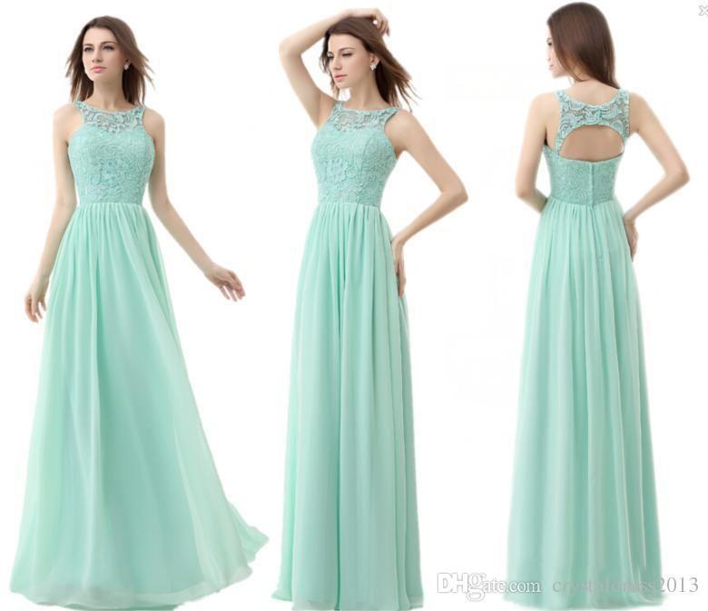 Vintage Mint Green Bridesmaid Dresses Cheap