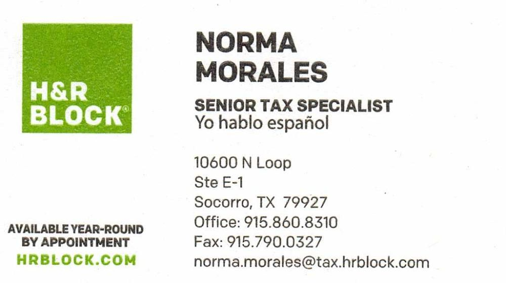 H R Block I Card Business Cards Visit Carte De Visite