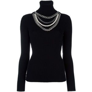 4541bd72c8a44e Moschino pearl and chain embellished jumper