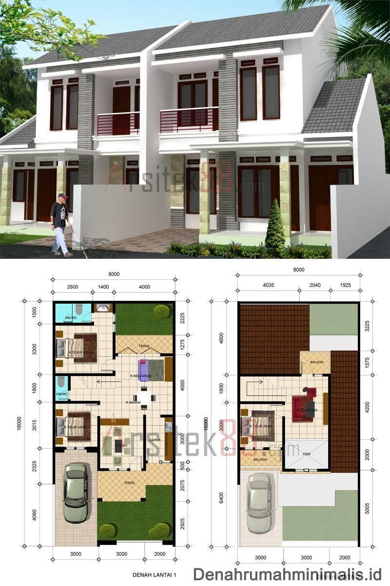 Desain Denah Rumah 8 X 12
