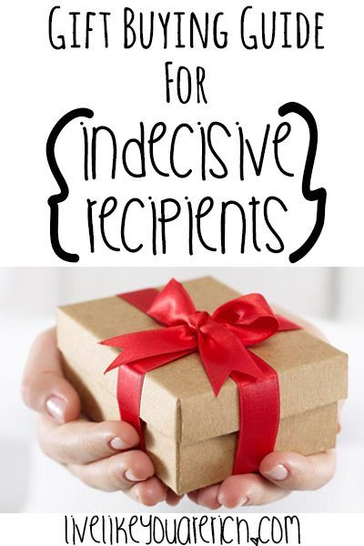 gift buying guide for indecisive recipients gift ideas pinterest