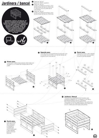 Planos de diferentes muebles hechos con palets pallets for Muebles con palets planos
